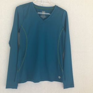 Aerie Fit Blue Long Sleeve Workout Top